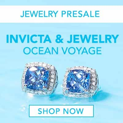 JEWELRY PRESALE INVICTA & JEWELRY OCEAN VOYAGE at Evine - 174-817 Gem Treasures® 14K White Gold 2.55ctw Tanzanite & Diamond Halo Stud Earrings