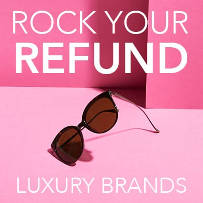 ROCK YOUR REFUND LUXURY BRANDS at Evine - 737-644 Bottega Veneta 53mm Round Frame Sunglasses w Case