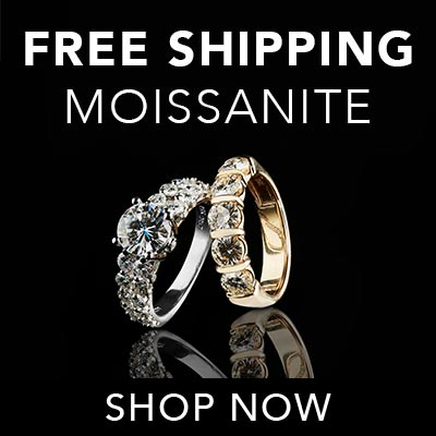 FREE SHIPPING MOISSANITE