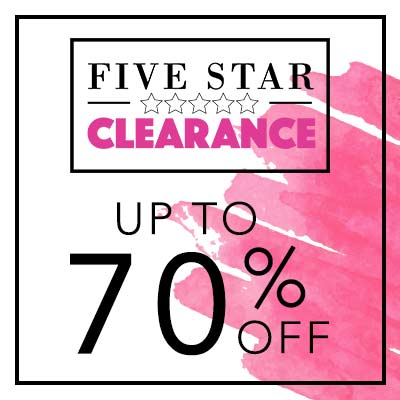 UP TO 70% OFF 5 STAR CLEARANCE at Evine