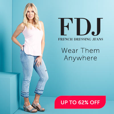 UP TO 62% OFF French Dressing Jeans at ShopHQ - 743-042 French Dressing Jeans Olivia Denim Raw Edge Hem 5-Pocket Flared Jeans
