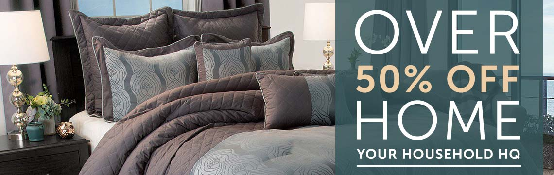 OVER 50% OFF HOME YOUR HOUSEHOLD HQ at ShopHQ - 480-643 Lavish Home Jolene Full Size 8-Piece Comforter Set