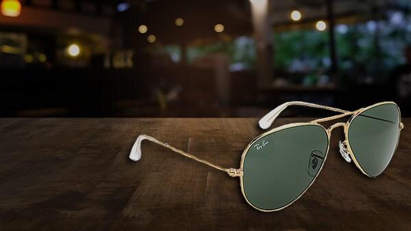 746-901   Ray-Ban Unisex 58mm Classic Aviator Frame Designer Sunglasses w Case