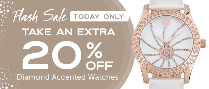 Take an Extra 20% OFF Diamond Accented Watches  FLASH SALE TODAY ONLY - 645-665 Brillier Women's Kalypso Swiss Made Quartz Diamond Accented Mother-of-Pearl Dial Leather Strap Watch