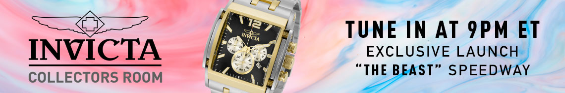 676-847 Invicta Men's Square Speedway The Beast Quartz Chronograph Bracelet WatchInvicta Collectors Room Tune in at 9pm ET   Exclusive Launch  The Beast Speedway