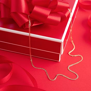 Gifts to Impress Leave Them Speechless - 192-568 Viale18K® Italian Gold 17.75 Curb Link Chain Necklace