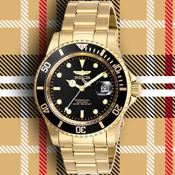 Free Shipping on 100s of Styles No Membership Required - 661-518 Invicta 40mm Pro Diver Quartz Magnified Date Window Stainless Steel Bracelet Watch