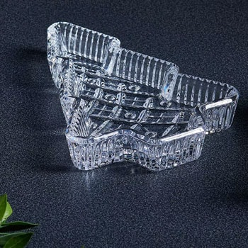 Doorbusters New Deals Added Every Hour  484-883 Waterford Crystal Holiday 8 Hand-Finished Christmas Tree Tray