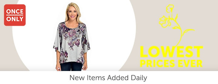Once Only - 744-871 One World Stretch Knit 34 Sleeve Scoop Neck Hi-Lo Top