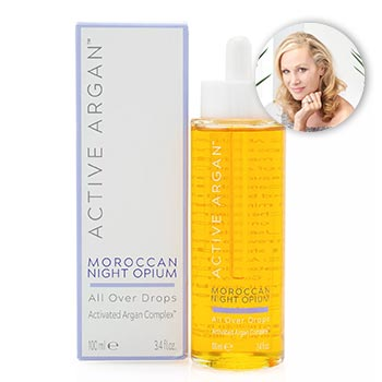 Active Argan Stock Up for Holiday & Shop New Arrivals - 315-746 Active Argan Supersize All Over Oil Drops For Face, Body & Hair 3.4 oz (Choice of Scent)