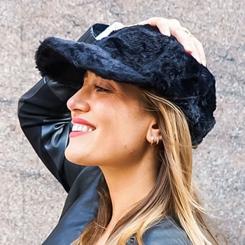 Accessory Gifts - 750-413 AREA STARS Faux Fur Cap