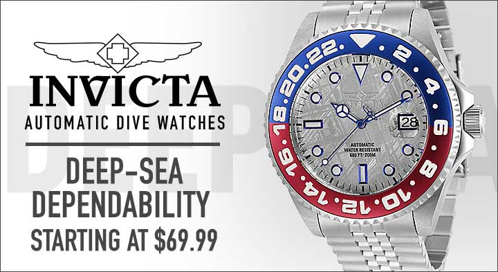 Invicta Automatic Dive Watches  Deep-Sea Dependability Starting at $69.99 - 673-634 Invicta 45mm Pro Diver Soda Automatic Meteorite Dial Bracelet Watch