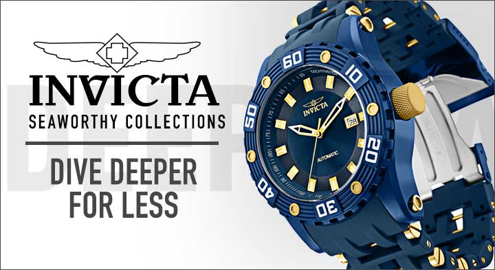 Invicta Seaworthy Collections - 674-060 Invicta Men's 50mm Sea Spider Automatic Polyurethane Bracelet Watch