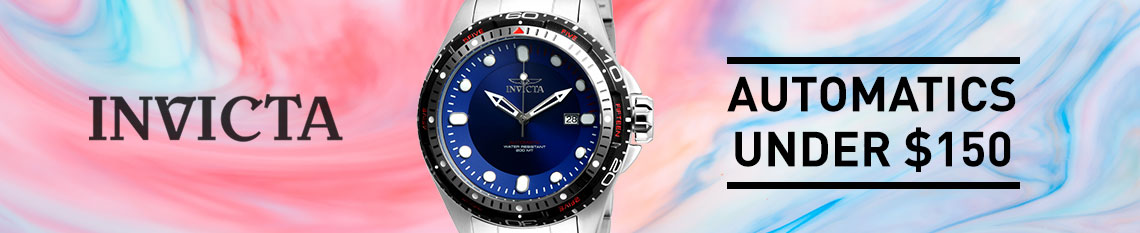 Invicta Automatics Under $150 - 677-136 Invicta Men's 52mm Hydromax Automatic Stainless Steel Bracelet Watch