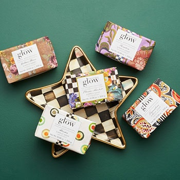 Home Holiday Gifting Give The Best This Season 491-350 Glow Home Apothecary by MacKenzie-Childs Courtly Check Star Plate & Large Bar of Soap
