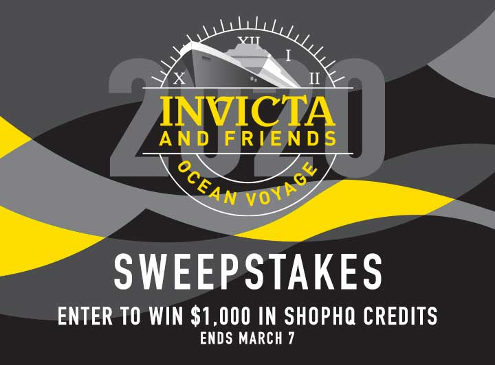 Invicta & Friends Ocean Voyage Sweepstakes Enter to Win $1,000 in ShopHQ Credits