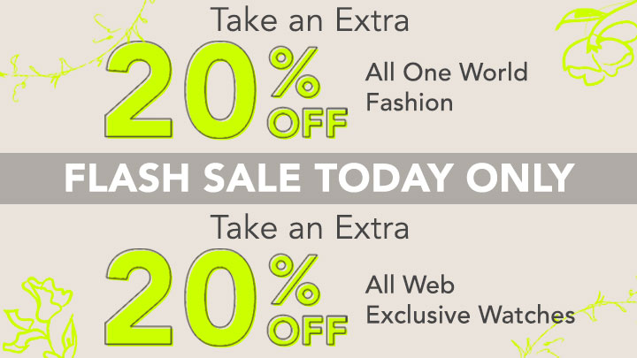 Flash Sale Today Only  Take an Extra 20% OFF All One World Fashion , All Web Exclusive Watches