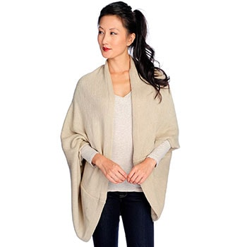 Autumn Accessories Scarves, Shawls, Hats & More - 724-485 Harve Benard Choice of Color Knit Open Front Cocoon Wrap