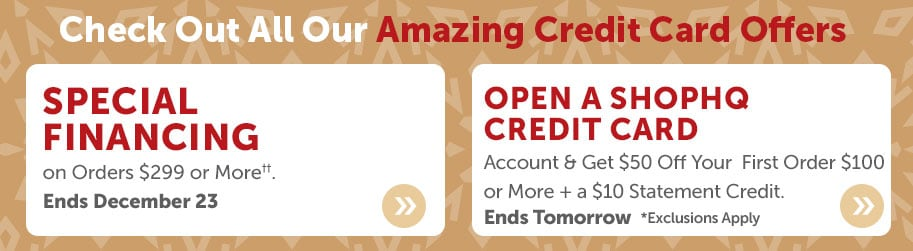 Check Out All Our Amazing ShopHQ Credit Card Offers