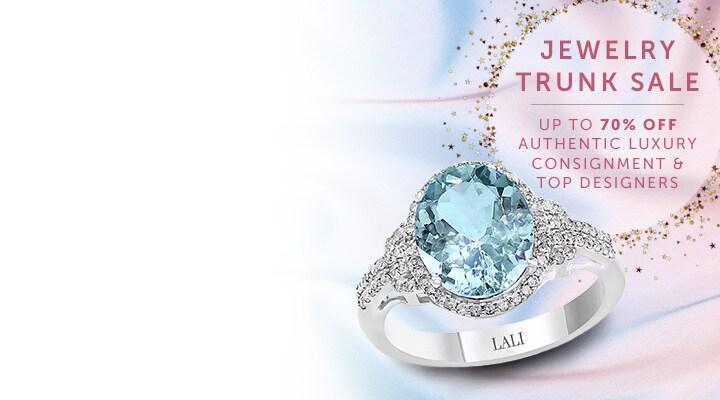 187-357 - LALI Jewels 14K White Gold 3.70ctw Aquamarine and Diamond Ring - Size 7