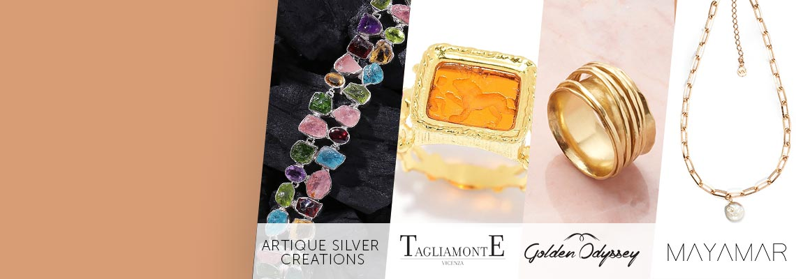 Artisan Jewelry Sale  Today Only- Shop Unique Handcrafted Designs Up to 50% off,  193-249 Artique Silver Creations Sterling Silver Colorful Multi Gemstone 7 Bracelet,  189-731 Tagliamonte 18K Gold Embraced™ Venetian Glass & Ruby Androcles & Lion Ring,  190-490 Golden Odyssey Choice of Plating Hammered 5-Band Spinner Ring,  192-721 MAYAMAR Chunky Link Adjustable Y-Neck w Choice of Charm