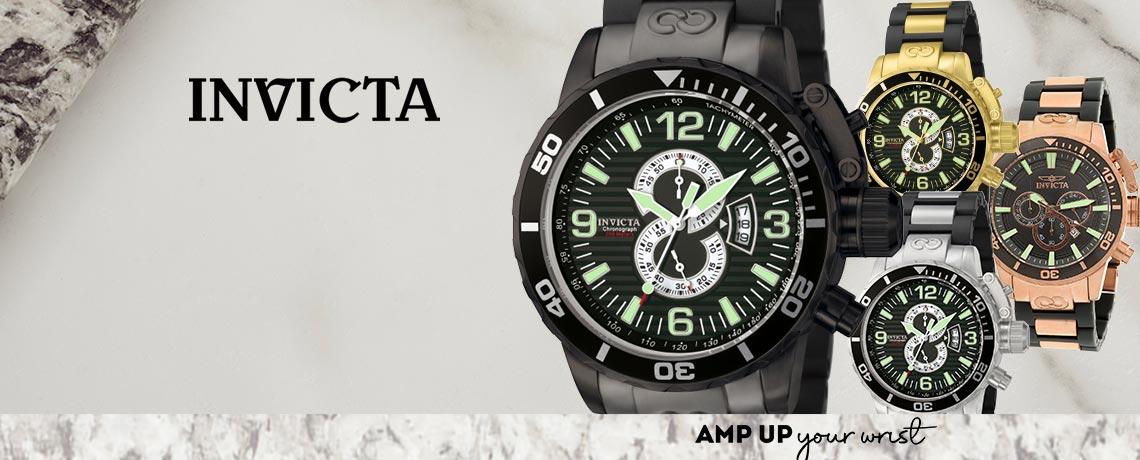 679-493 - Invicta 52mm Corduba Ibiza Quartz Chronograph Date Stainless & Polyurethane Bracelet Watch