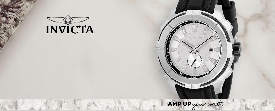 676-863 - Invicta 48mm Bolt Quartz Silicone Strap Watch