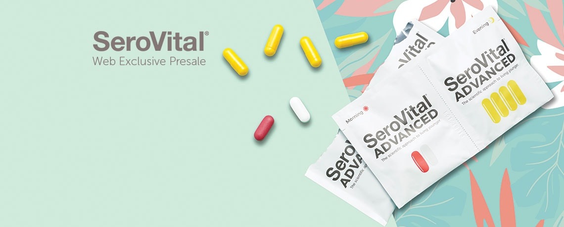 002-312 -  Web Exclusive Presale SeroVital Advanced Anti-Aging & Dietary Supplement (Choice of Supply)