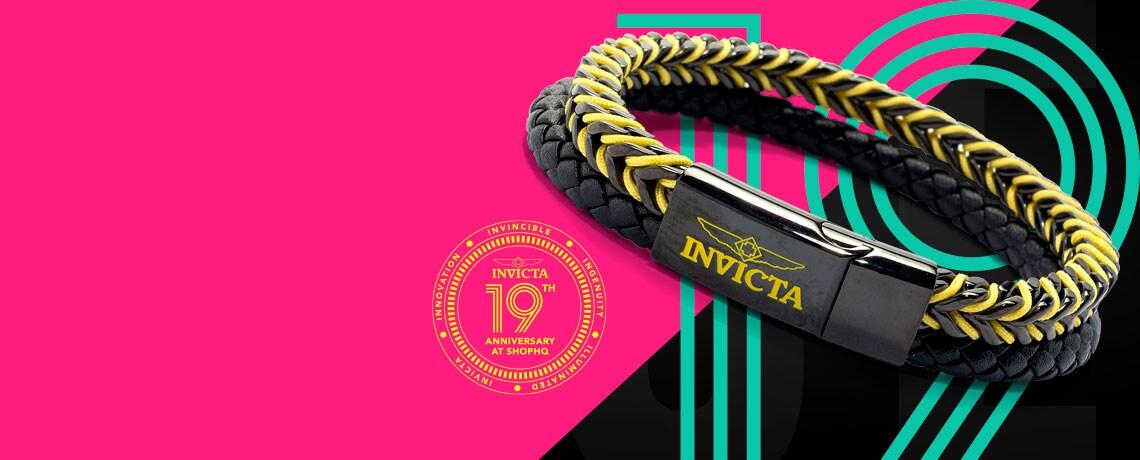 684-278 Invicta Jewelry Men's 8.75 Choice of Color Double Row Bracelet