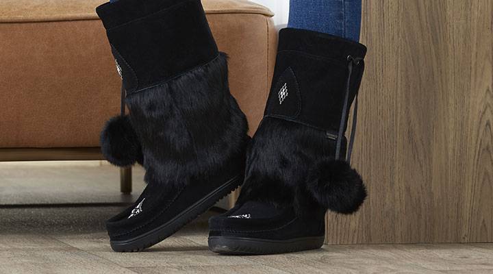 744-503 - Manitobah Mukluks Snowy Owl Waterproof Leather Mid-Calf Boots