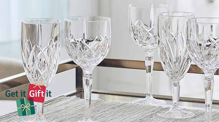 482-128 -  Marquis by Waterford Brookside Set of 6 (12 oz) Crystalline Glasses