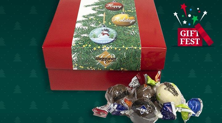 499-364 - TTV Waggoner Chocolates Set of 2 Assorted or Soft Center Christmas Box Set