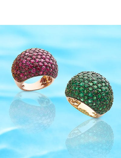 UP TO 35% OFF EFFY Designer Jewelry Made for You at ShopHQ - 175-719 EFFY Precious 14K Gold Choice of Gemstone Dome Ring