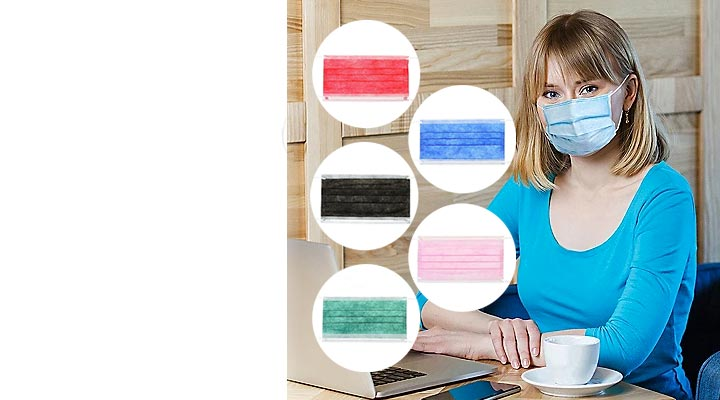 003-101	- MHB	 Medic Therapeutics Set of 50 Disposable & Breathable Face Masks for Personal Use