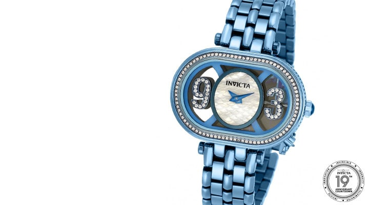 675-812 Invicta Women's Subaqua Charm Quartz Crystal Accented Stainless Steel Bracelet Watch