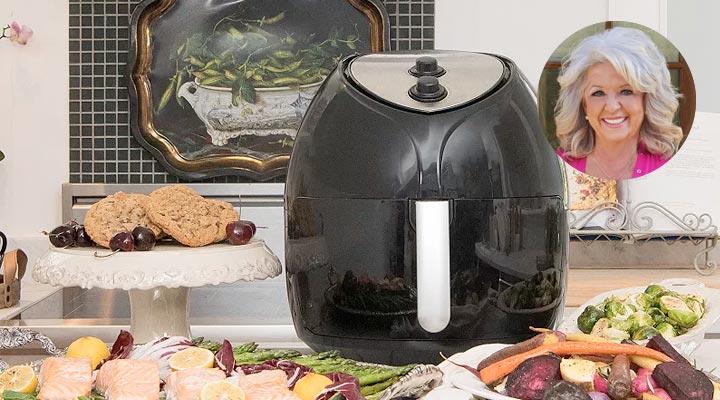 497-101 - TDO Paula Deen 1700W 9.5qt XXL Family-Sized Non-Stick Air Fryer w Crisper Tray & Recipes