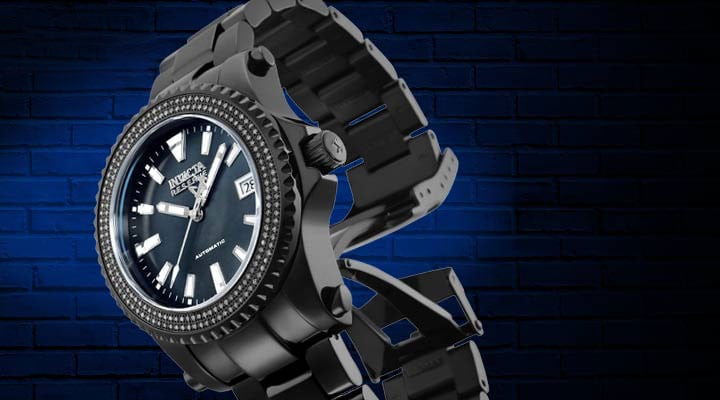 679-522  Invicta 40mm or 47mm Grand Diver Ltd Ed Swiss Automatic 0.75ctw Diamond Watch w 15-Slot Dive Case