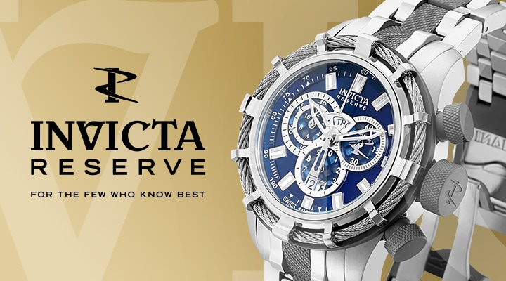 Invicta Reserve For the Few who know best  683-059 Invicta Men's 50mm Subaqua Noma III Quartz Chronograph Tinted Crystal Strap Watch