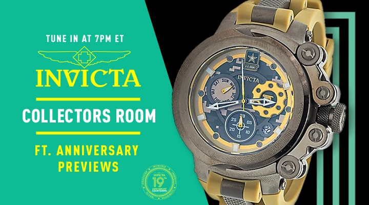 679-137 Invicta Army Men's 54mm Coalition Forces Trigger Swiss Quartz Chronograph Strap Watch