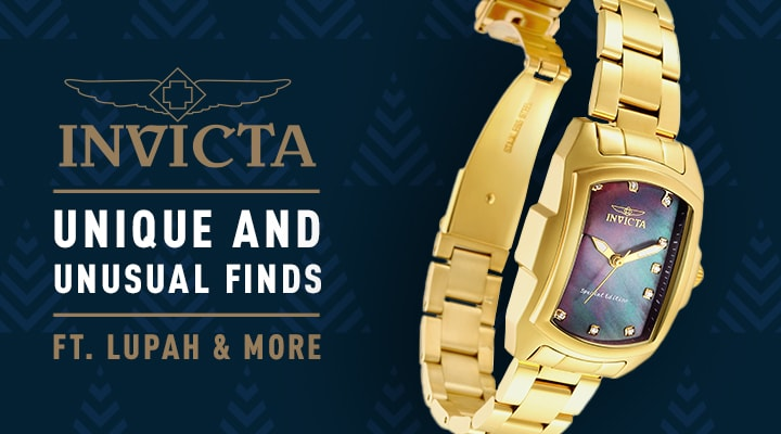 679-521 Invicta Baby or Grand Lupah Quartz Diamond Accented Mother-of-Pearl Dial Bracelet Watch