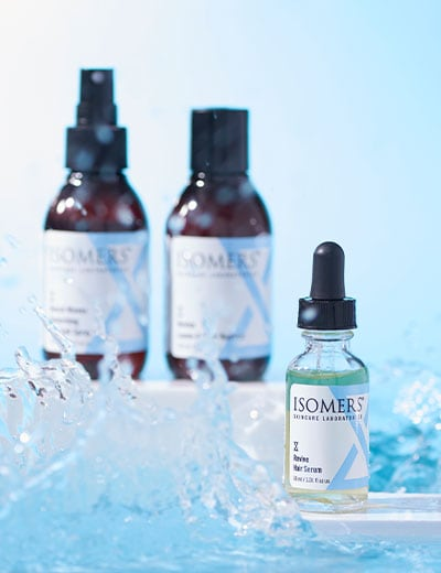 ISOMERS Skincare Featuring Your Favorites for Less at ShopHQ 312-060 ISOMERS Skincare Three-Piece Hair Serum, Leave-in Booster & Beach Waves Sea Salt Spray Set