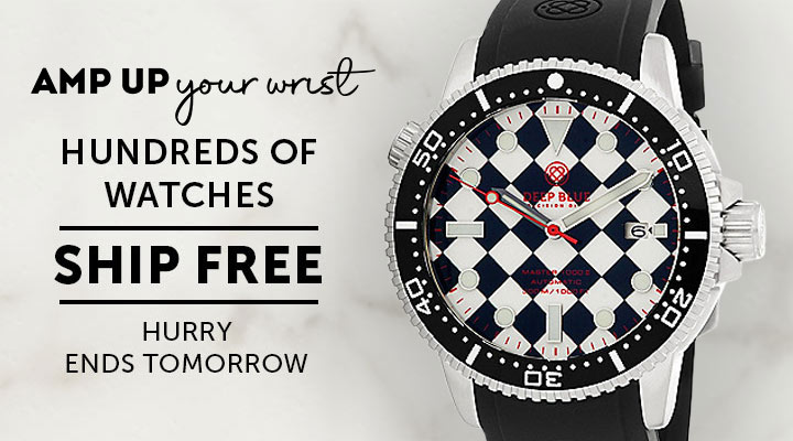 684-084 Deep Blue Watches - Hundreds of Watches Ship Free - Ends Tomorrow