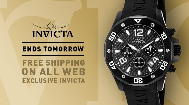 Free Shipping on All Web Exclusive Invicta - 658-313 Invicta Men's 45mm Specialty Quartz Chronograph Carbon Fiber Dial Polyurethane Strap Watch