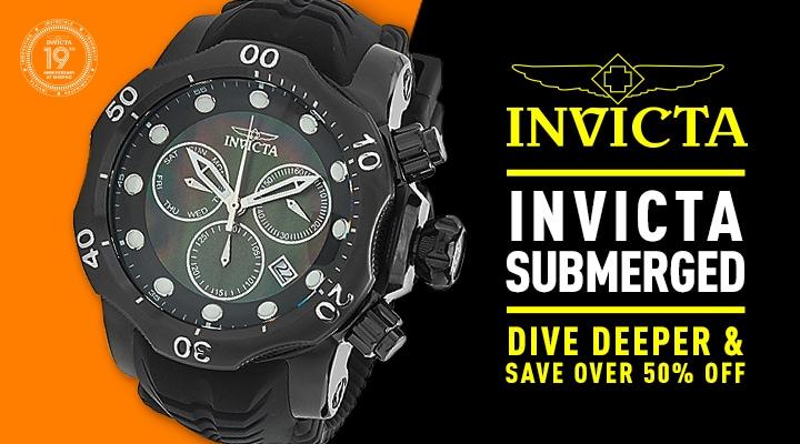 682-684 Invicta Men's 52mm Venom Sea Dragon Quartz Chronograph Mother-of-Pearl Dial Silicone Strap Watch