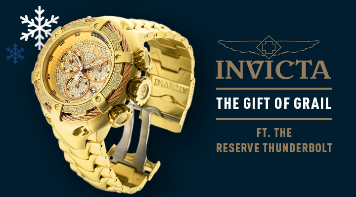 676-834 Invicta Reserve Men's 52mm Thunderbolt Swiss Quartz Chronograph 1.62ctw Diamond Pave Dial Watch