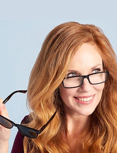 Practical Ideas - 490-976 One Power Unisex Set of 2 (51mm) Reader Glasses w Bonus Reader Sunglasses