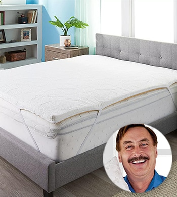 MyPillow w Mike Lindell Tune In At 5 PM ET - 484-618 MyPillow 2 Ultra Comfort Mattress Topper w Removable Cover