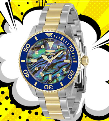 Warehouse Specials Lowest Prices of 2020 -676-841 Invicta 38mm or 47mm Pro Diver Quartz Diamond Acctd Abalone Dial Bracelet Watch