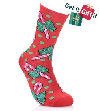 738-458 Betsey Johnson 12 Days of Socks Pair of 12 Knit Holiday Crew Socks Gift Box