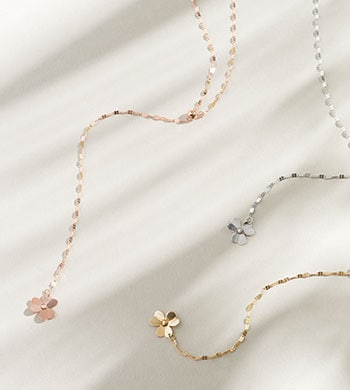 Once Only Shop Our Lowest Prices Ever 184-797 Stefano Oro Fiore D'Amore 14K Gold Clover Adjustable Link Necklace, 1.5 grams